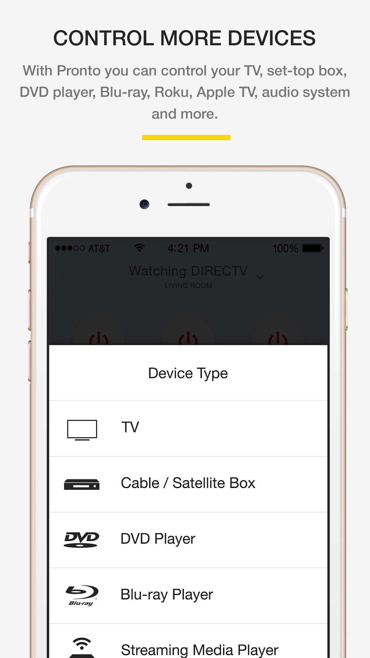 Screenshot do app Peel Smart Remote