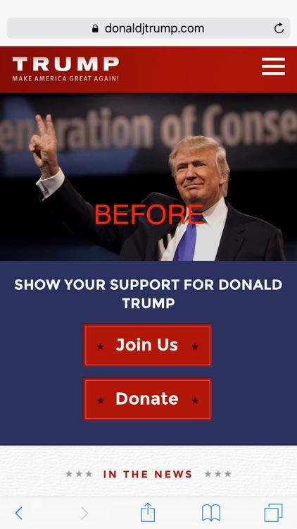 TrumpBlockr: Block Donald Trump, Make Web Browsing Great Again