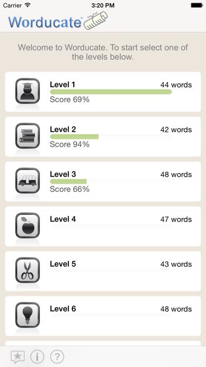 Worducate unique vocab flashcards – thesaurus vocabulary test prep SAT GRE ACT GMAT verbal