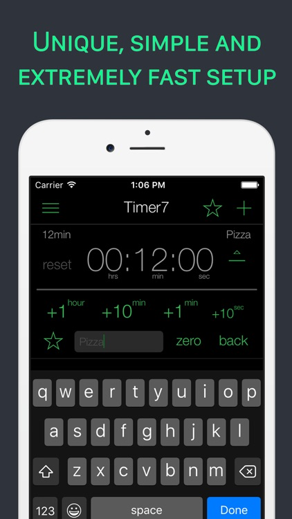 Timer 7 - Multiple timers for time management, kitchen, gym, errands and gtd