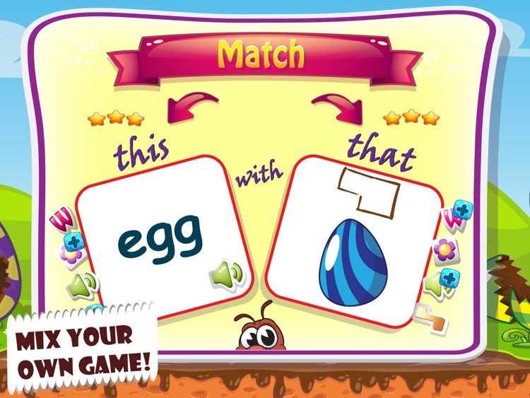 Easter Word Match and Coloring screenshot-3
