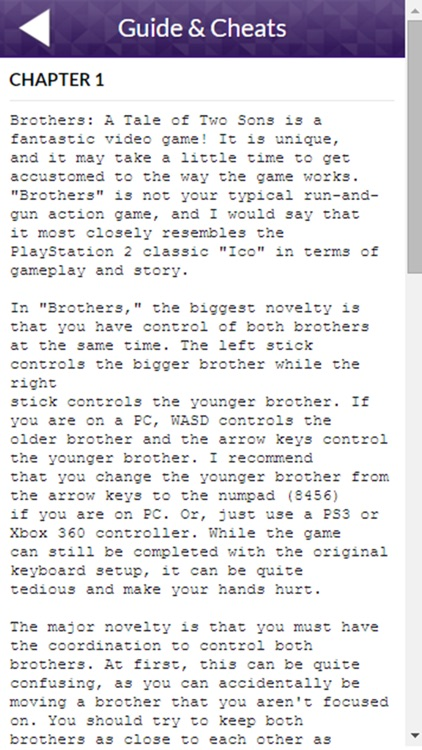 PRO - Brothers A Tale of Two Sons Version Guide