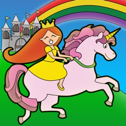 Princess Fairy Tale Coloring Wonderland for Kids and Family Preschool Free Edition