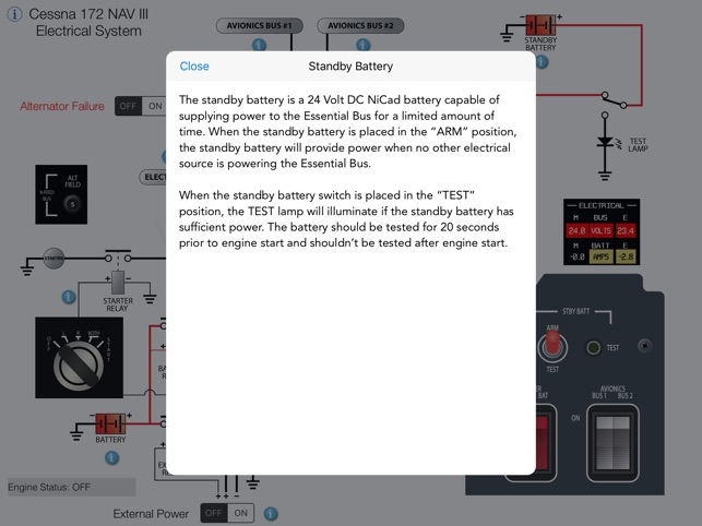 Cessna 172 NAV III Electrical System on the App Store
