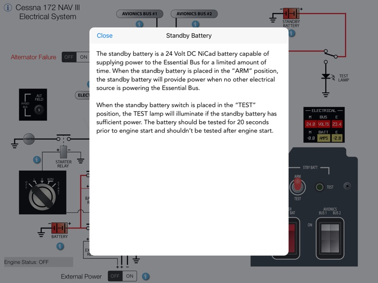 Cessna 172 NAV III Electrical System screenshot-4