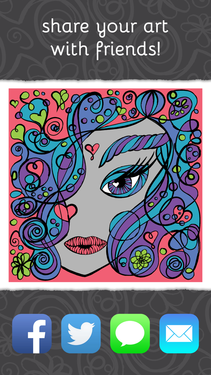 PrismaJoy Coloring Book for Adults - Art Therapy Screenshot