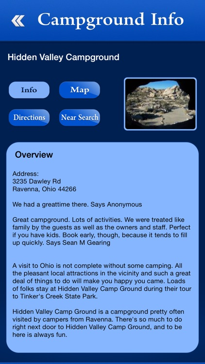 Ohio Campgrounds and RV Parks