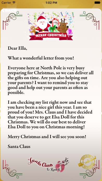 santa letters from north pole