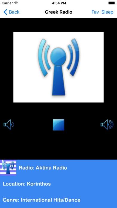 Greek Radio Screenshot on iOS