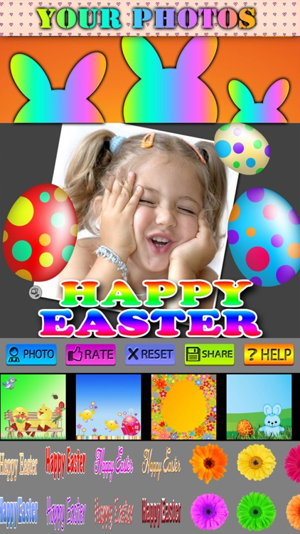 Happy Easter Frames and Stickers screenshot-3