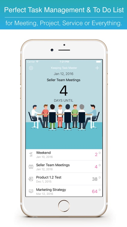 Keeping Task Master Project Planner & Date Reminder Countdown Widget