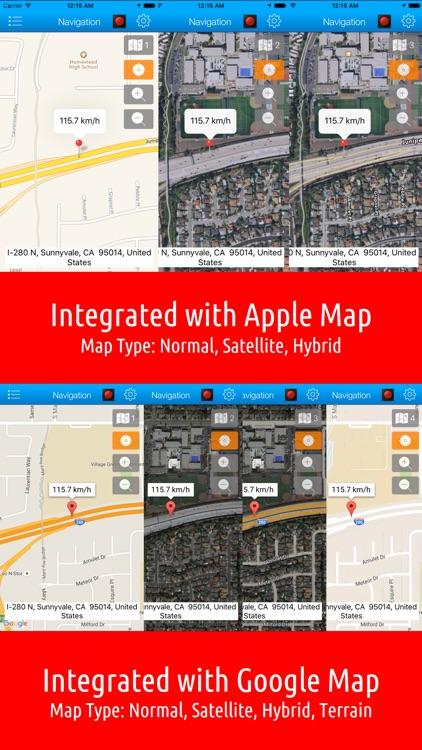Smart Speed Tracker - GPS Speedometer, HUD and Trip Computer screenshot-3