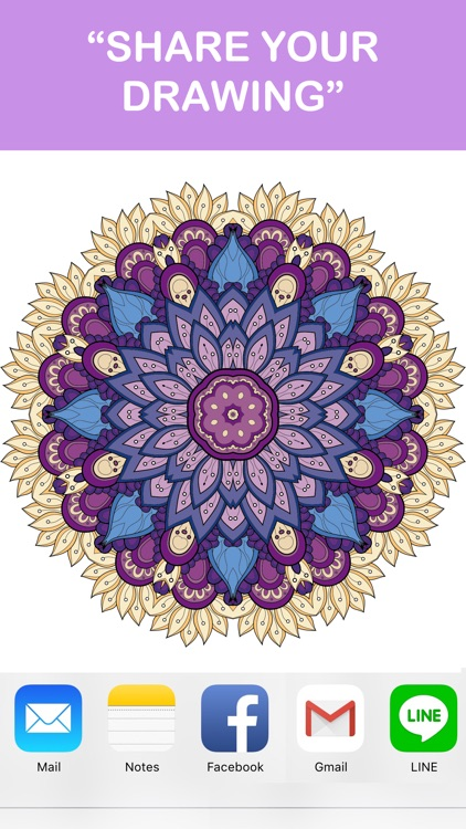 Adult Coloring Book - Free Mandala Colors Therapy Stress Relieving Pages screenshot-4