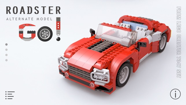 Roadster For Lego Creator 7347 Set Building Instructions On The