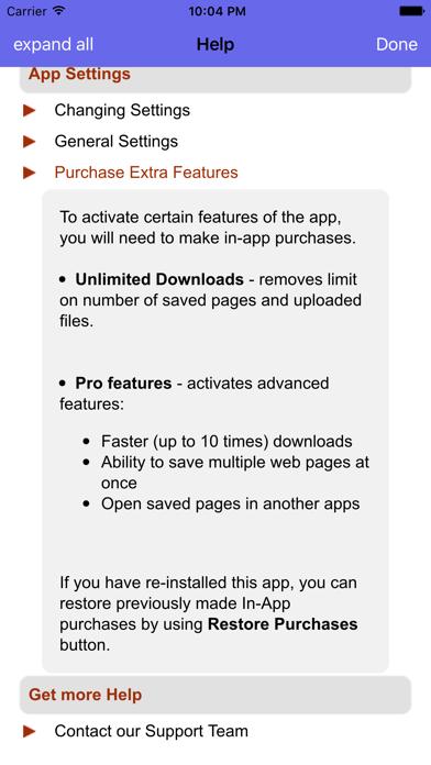 iSaveWeb - web saving toolのおすすめ画像3