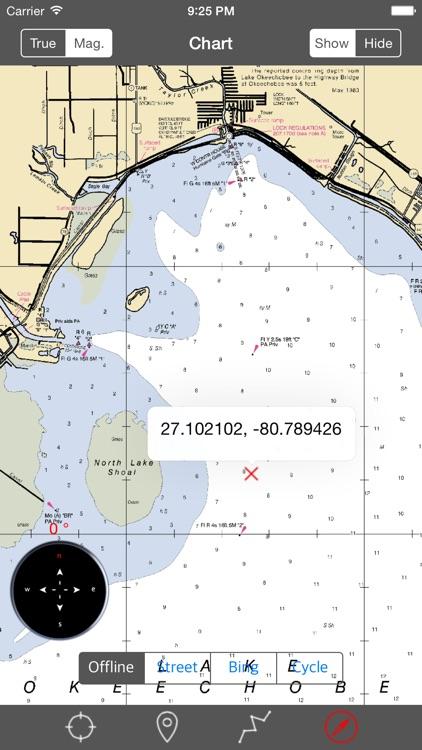 Lake Okeechoobee (Florida)  - Raster Nautical Charts