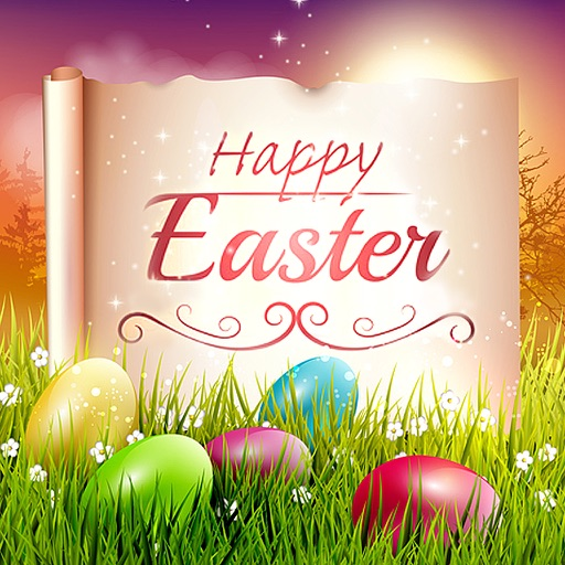 Happy Easter Greeting Card.s Maker - Collage Photo & Send Wishes with Cute Bunny Egg Sticker iOS App