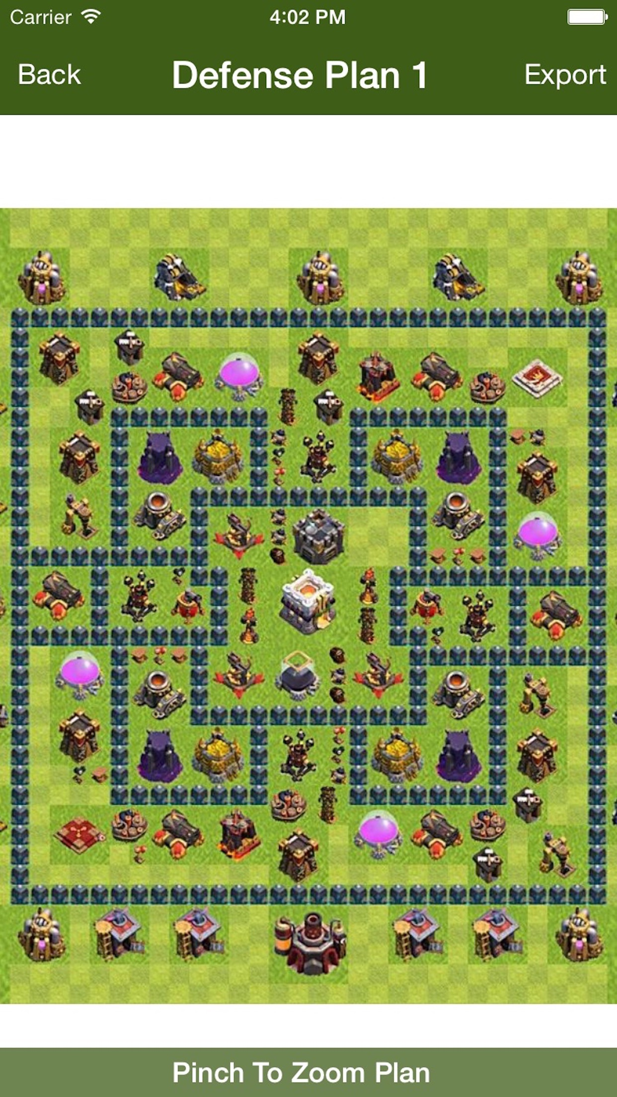 Layout for COC Screenshot