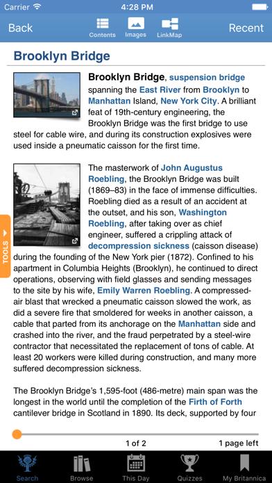Encyclopædia - Britannica screenshot two