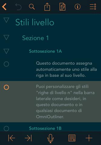 OmniOutliner 2 screenshot 3