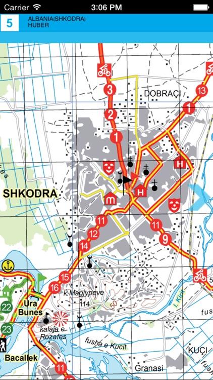 Shkodra. Tourist map. screenshot-3