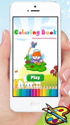 Cocuk Hayvan Cicek Boyama Kitabi Cocuk Oyunlari Icin Cizim App