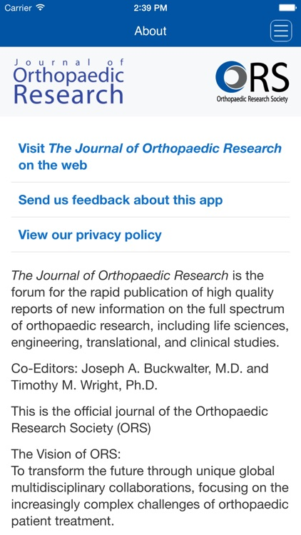 The Journal of Orthopaedic Research