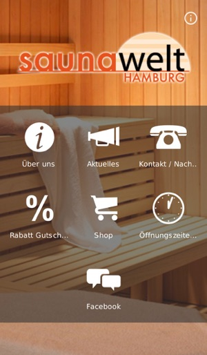 app store saunawelt hamburg. Black Bedroom Furniture Sets. Home Design Ideas