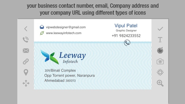 Business card creator create custom design print your own business card creator create custom design print your own visiting card on the app store colourmoves Gallery