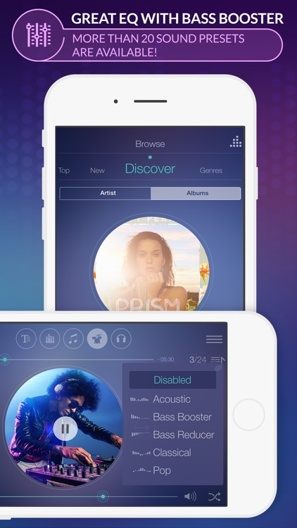 Spoty EQLZR - stream music player with equalizer and lyric search for Spotify premium