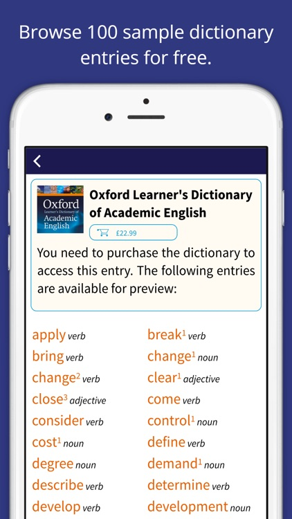 Oxford Learner's Dictionary of Academic English screenshot-0
