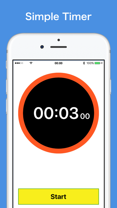 Simple Timer - for iPhone screenshot one