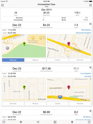 mile cloud mile tracker automatic mileage log for tax deduction
