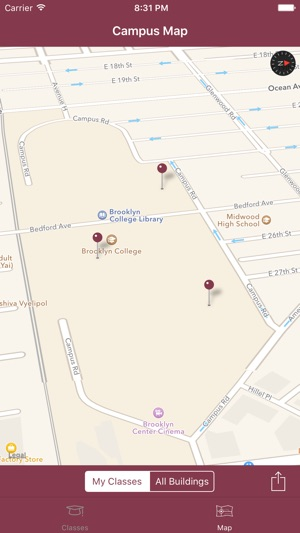 Cuny Campus Map.Ibrooklyn The Unofficial App For Cuny Brooklyn College Students