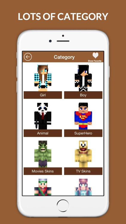 Best Skins PE - Girl, Boy and Animal skin for Minecraft
