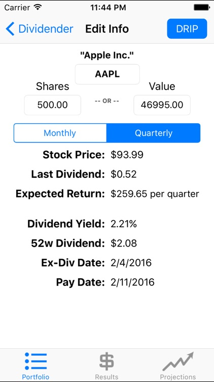 Dividender - Compound Interest