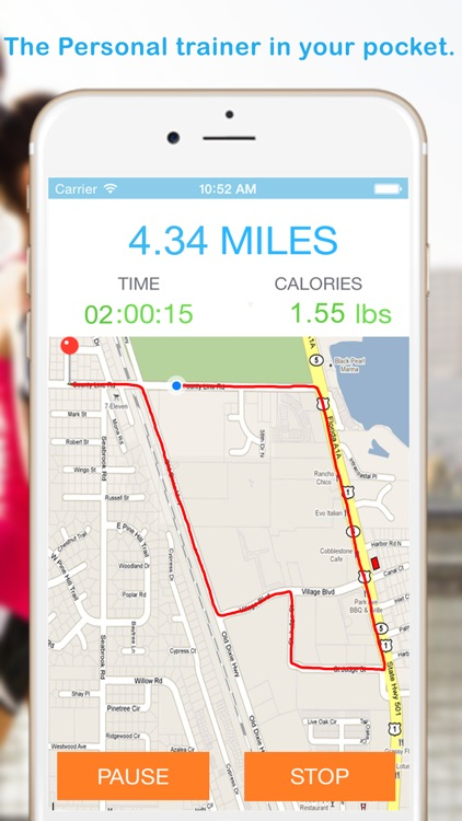 GPS Running + Cycling Workout Tracking with Calorie Counting
