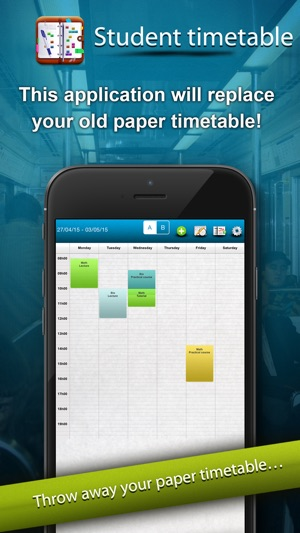 Student timetable: schedule workshop tutorial on the App Store