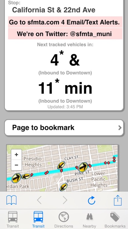 My SF Muni Next Bus - Public Transit Search and Trip Planner screenshot-3