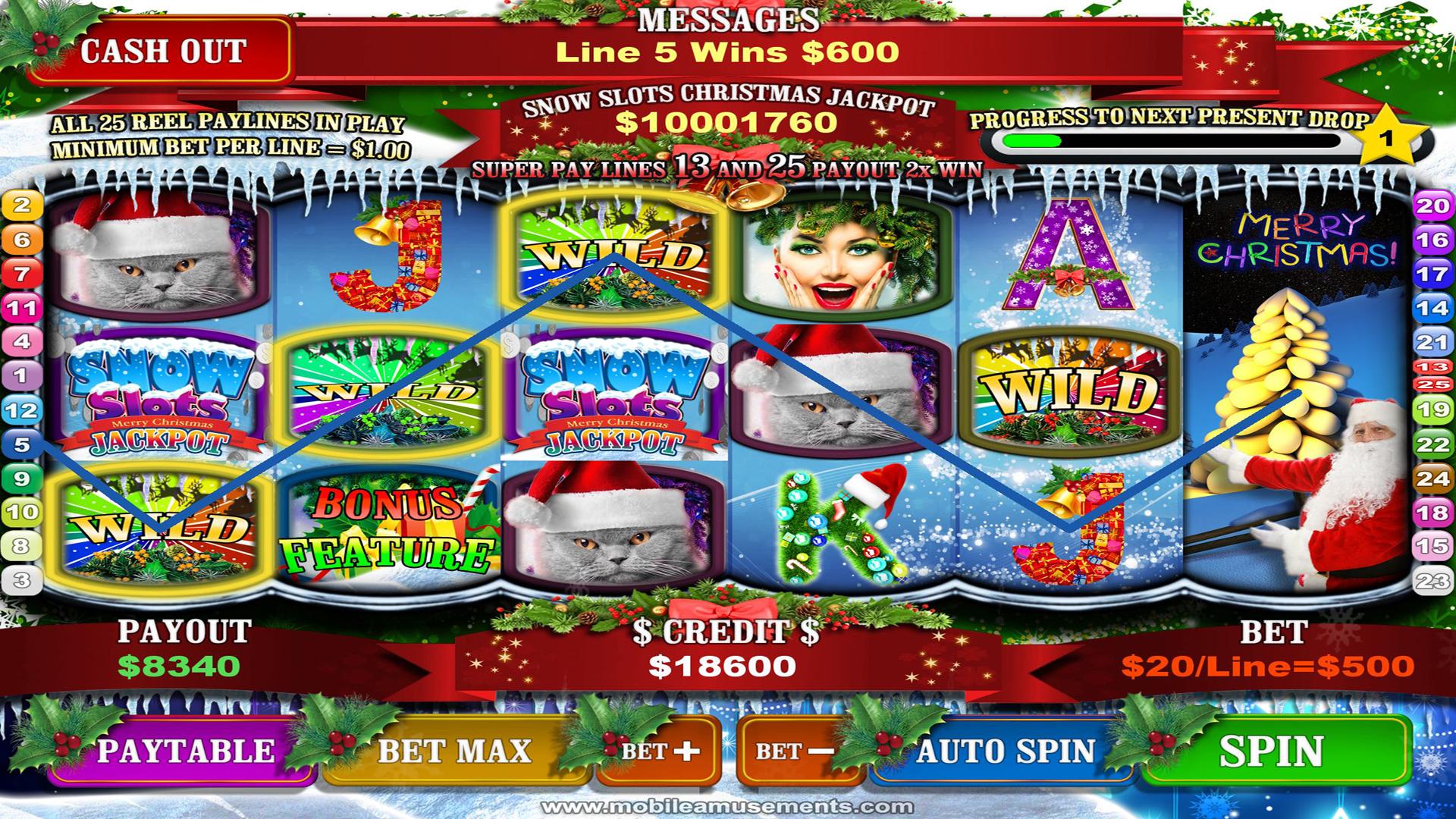 Snow Slots Merry Christmas TV screenshot 2