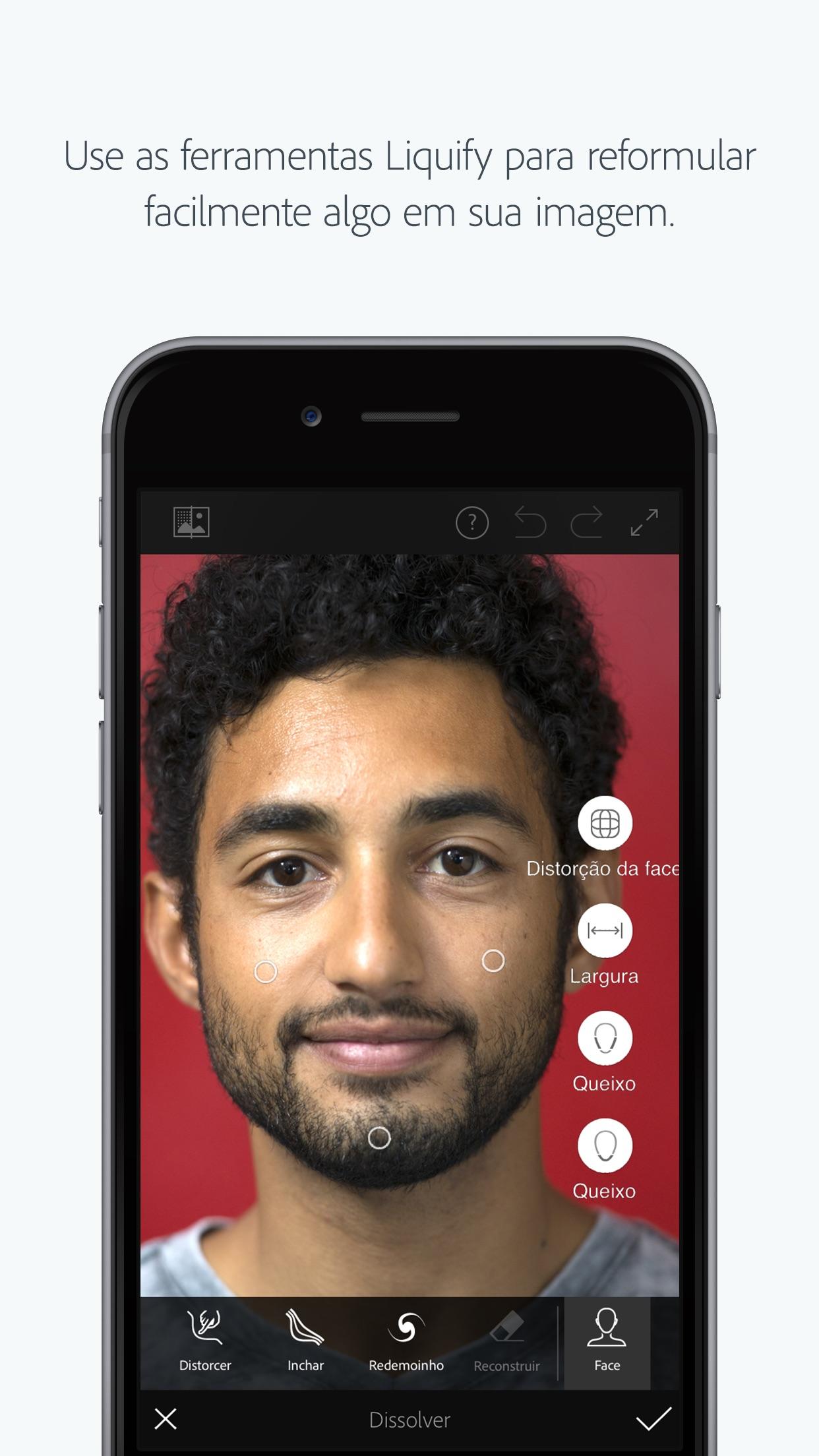 Screenshot do app Adobe Photoshop Fix