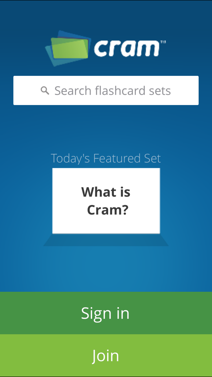 Flashcards with Cram Screenshot