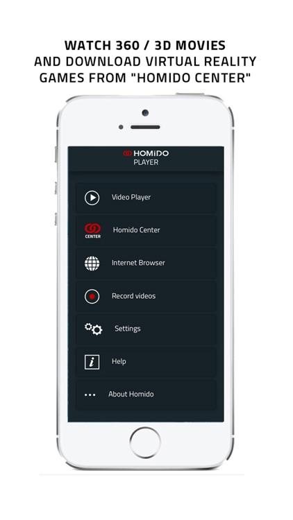 Homido 360 VR player screenshot-4