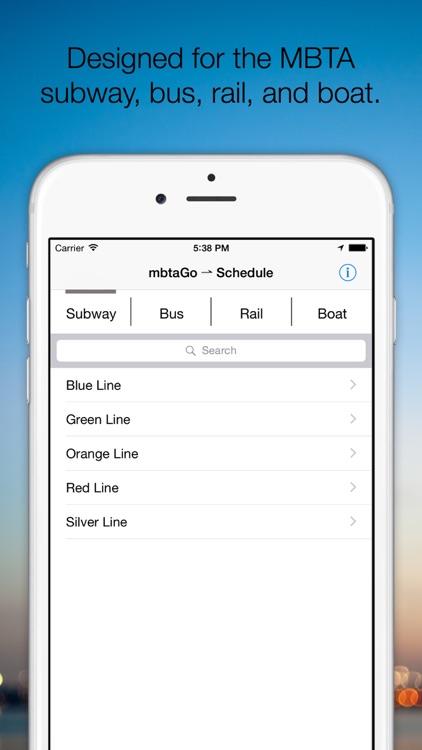 mbtaGo - Boston MBTA Tracker, Finder, Schedule Assistant, and Alerts screenshot-4