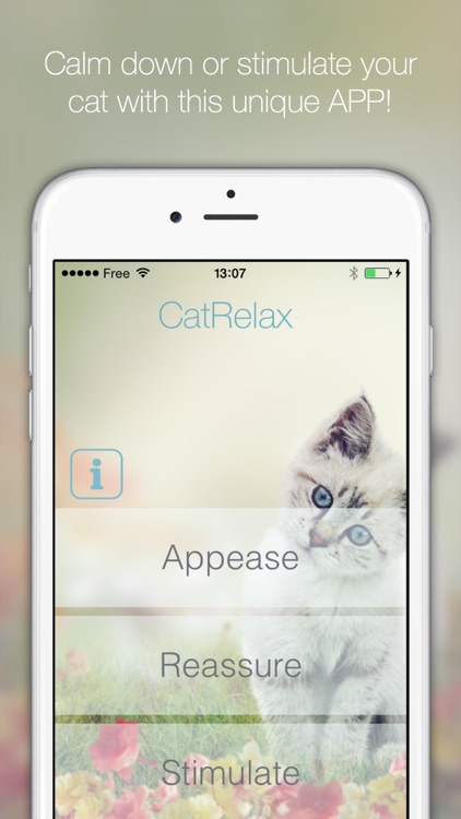 Cat Relax: A musical atmosphere for relaxation or stimulation of your cat. Have fun watching your cats react to the music composed for them