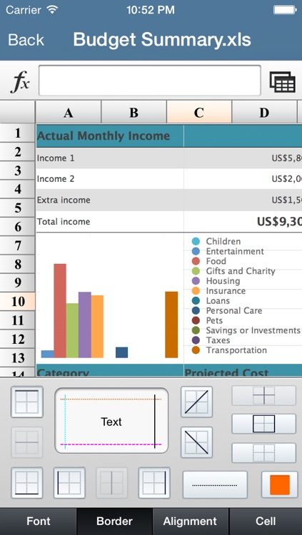 My Spreadsheet-For Ms Office Excel screenshot-3