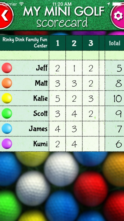 My Mini Golf Scorecard screenshot-3