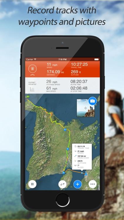 Track Kit Pro - GPS Tracker with offline maps, Compass, Speedometer, Rangefinder and Theodolite screenshot-0