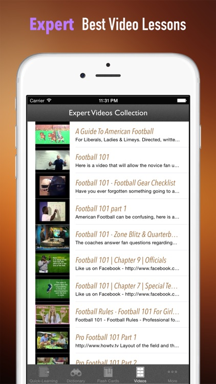 American Football 101: Quick Learning Reference with Video Lessons and Glossary screenshot-4