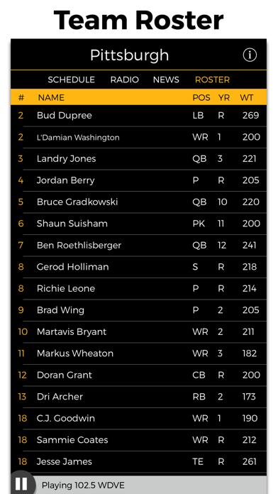 Pittsburgh Football Radio & Live Scores screenshot four